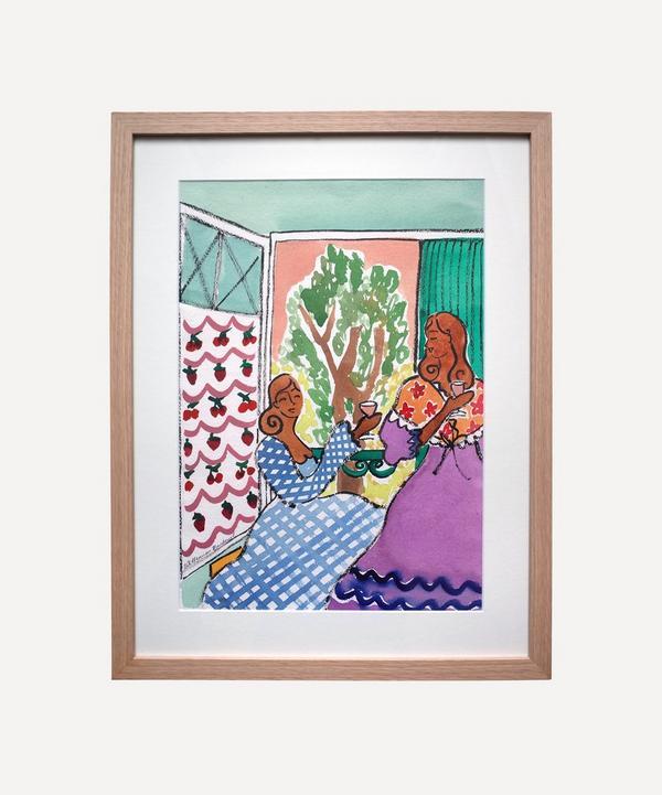 Willemien Bardawil - Les Filles en Provence Original Framed Painting