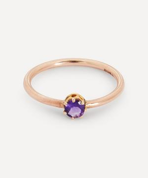 Amethyst Solitaire Claw Set Rose Gold Ring