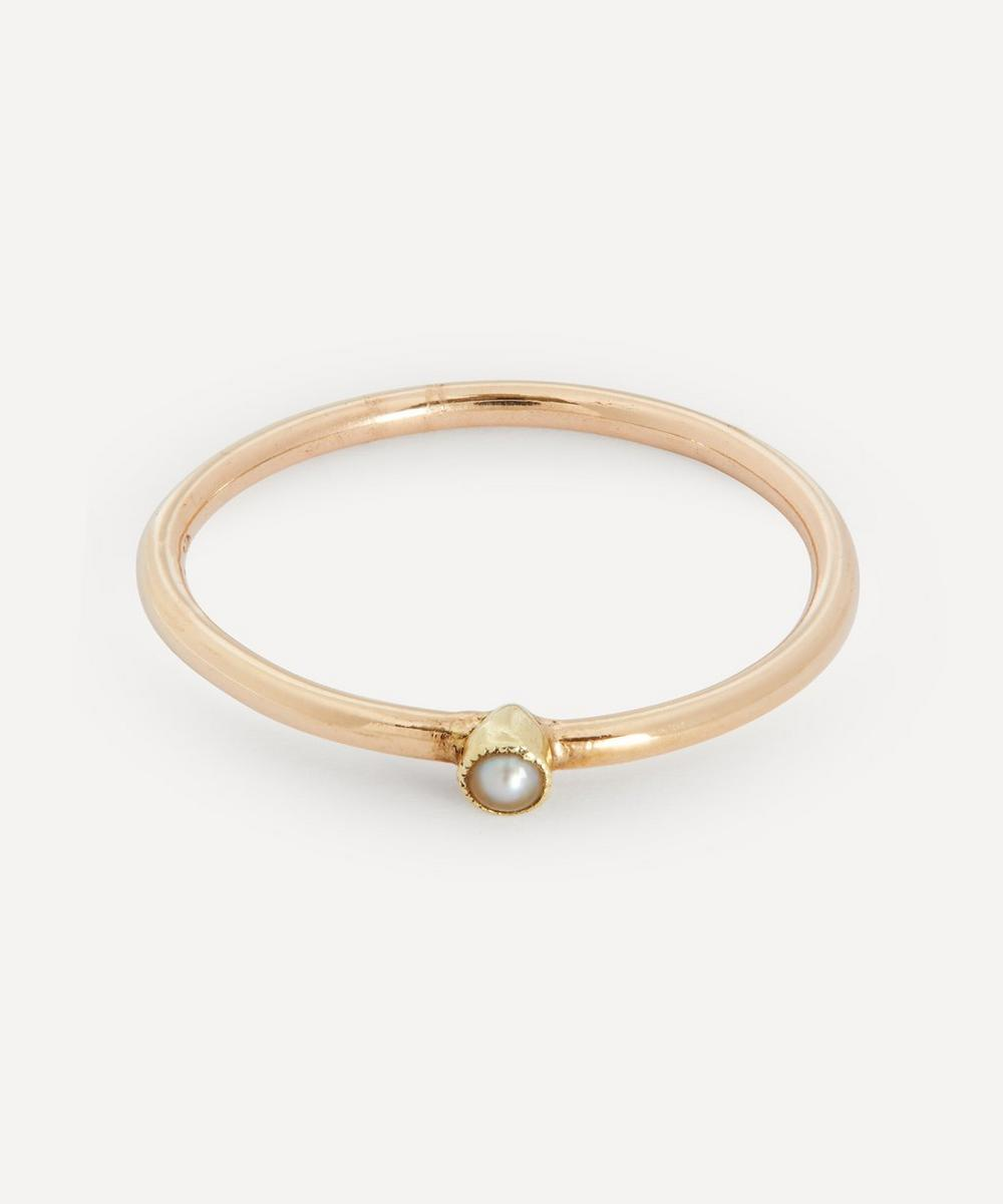 Annina Vogel - Pearl Solitaire Gold Ring