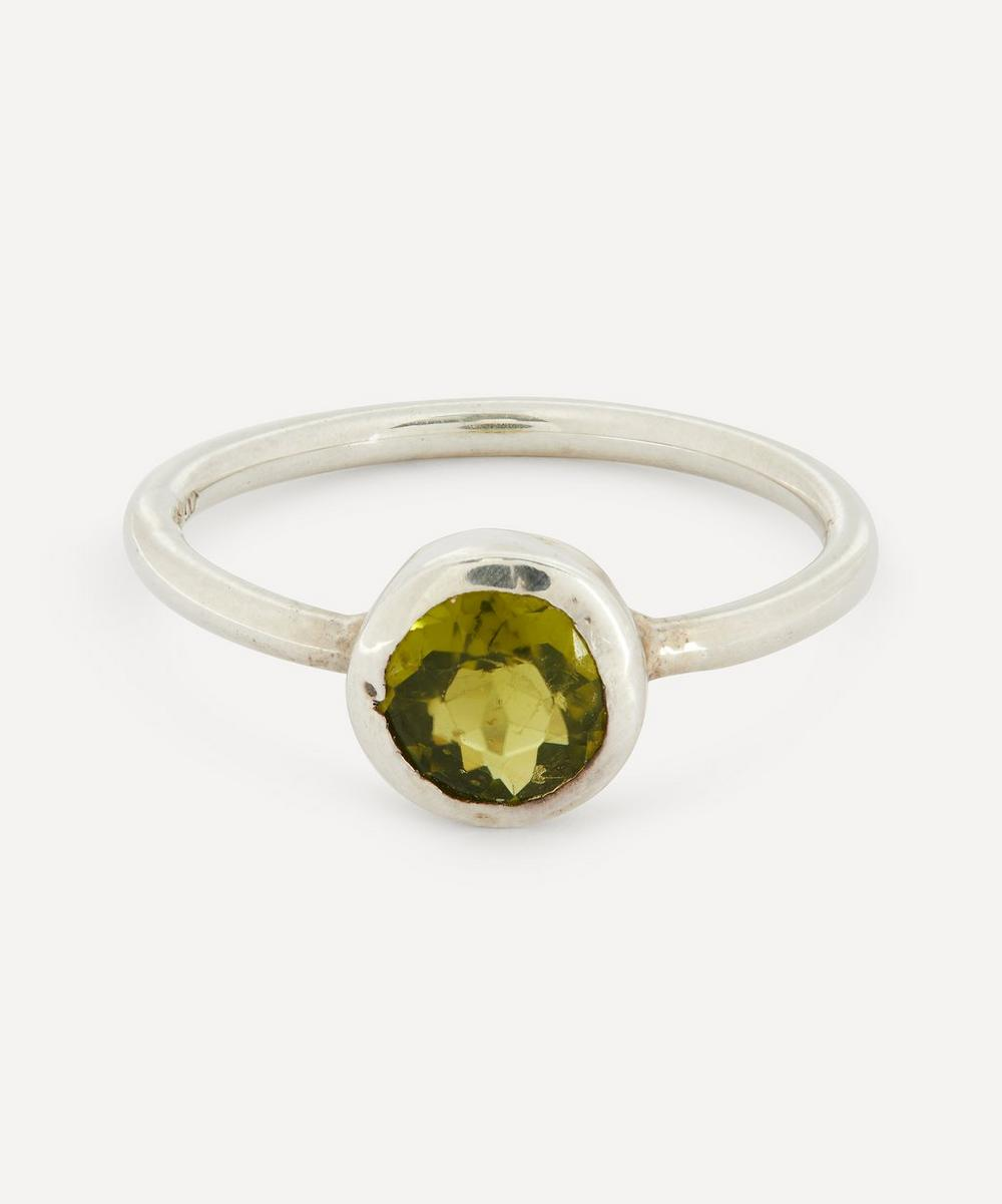 Annina Vogel - Peridot Solitaire Silver Ring
