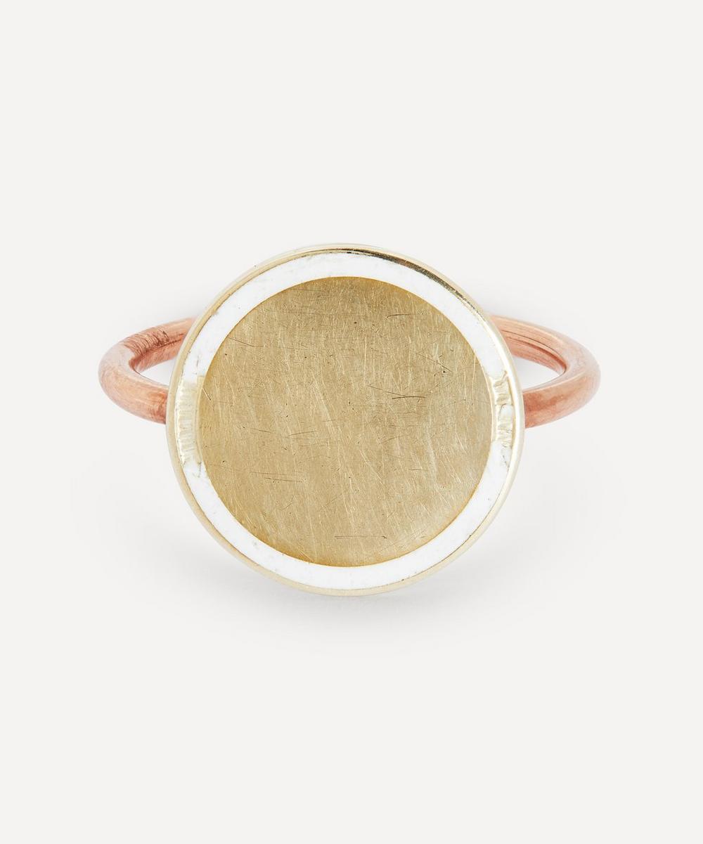 Annina Vogel - Enamel Disc Rose Gold Ring