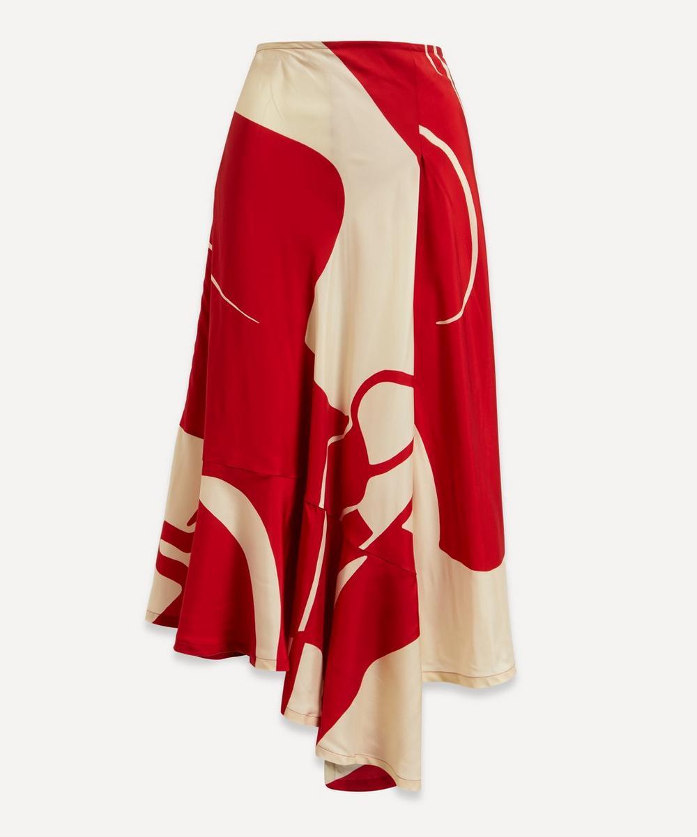Colville - Asymmetric Printed Midi-Skirt