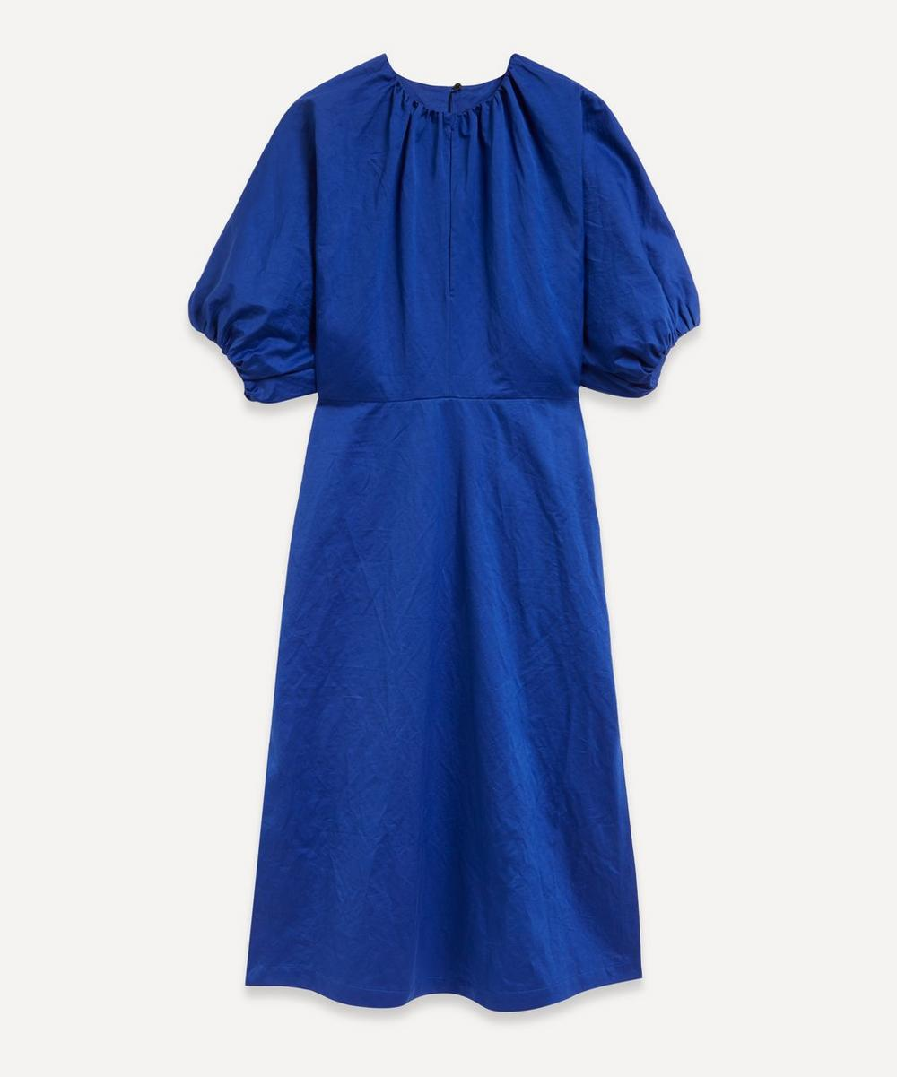 Colville - Gathered Neck Midi-Dress