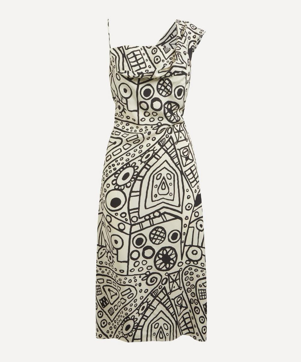 Colville - Asymmetric Printed Slip Dress