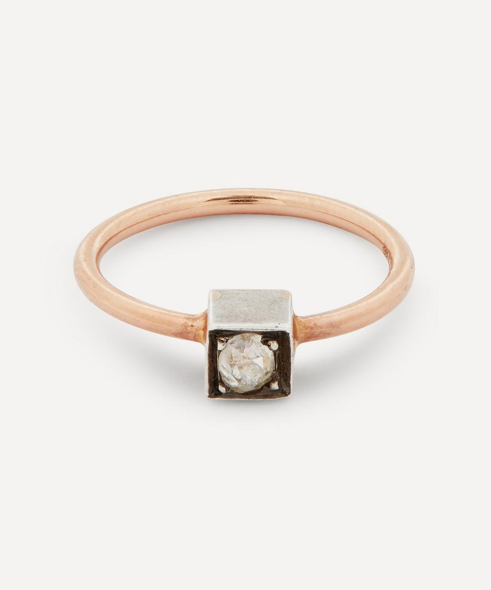 Annina Vogel - Old Cut Diamond Solitaire Rose Gold Ring
