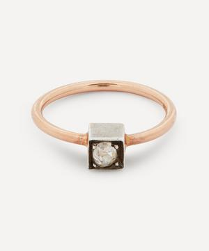 Old Cut Diamond Solitaire Rose Gold Ring