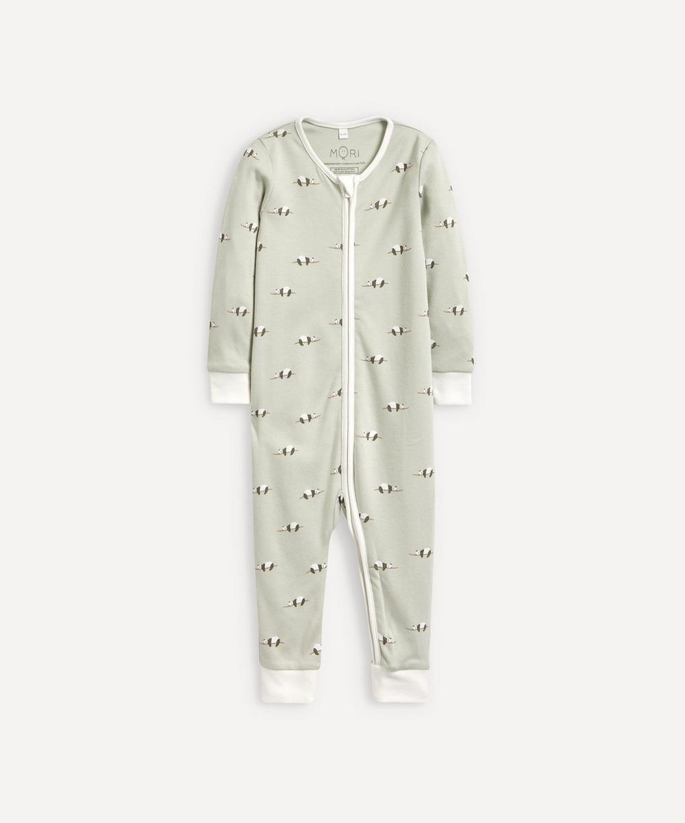 MORI - Panda Zip-Up Sleepsuit 0-24 Months
