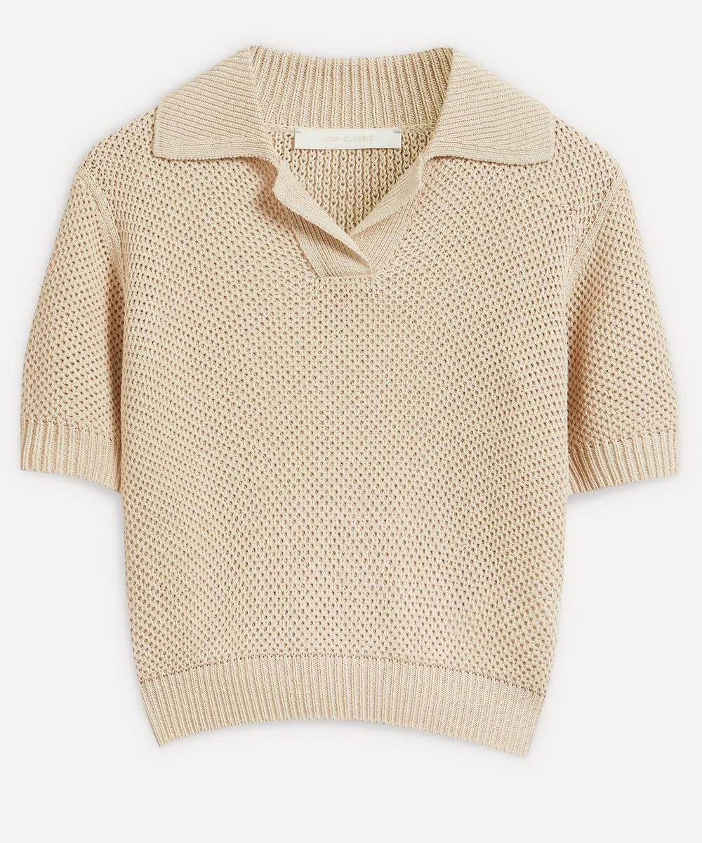 LOW CLASSIC - Ice Knit Polo Top