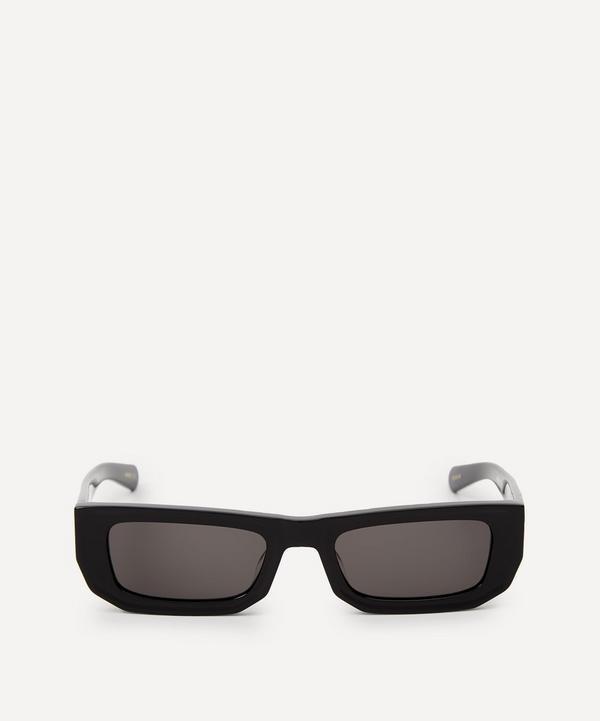 Flatlist - Bricktop Solid Black Sunglasses
