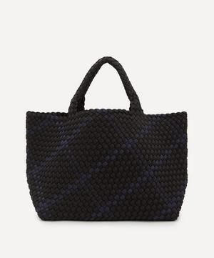 St. Barths Medium Plaid Woven Tote Bag
