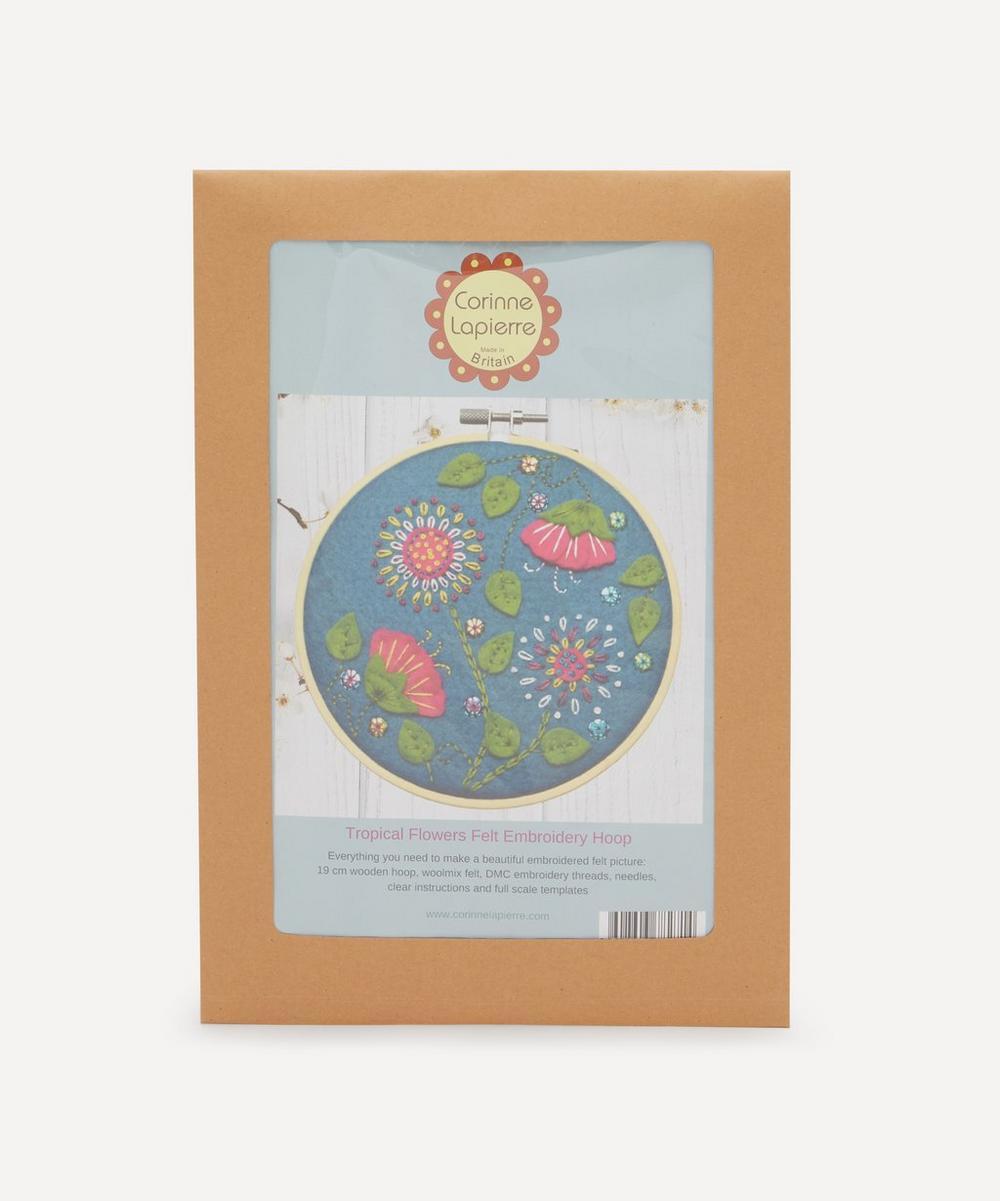 Corinne Lapierre - Felt Tropical Flowers Appliqué Hoop Kit