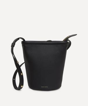 Mini Zip Leather Bucket Bag