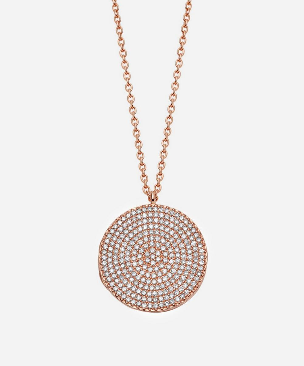 Astley Clarke - Rose Gold Large Icon Diamond Locket Necklace