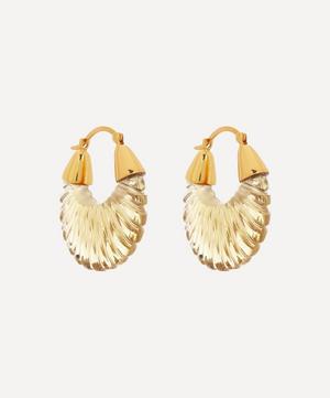 Gold-Plated Etienne Glass Hoop Earrings