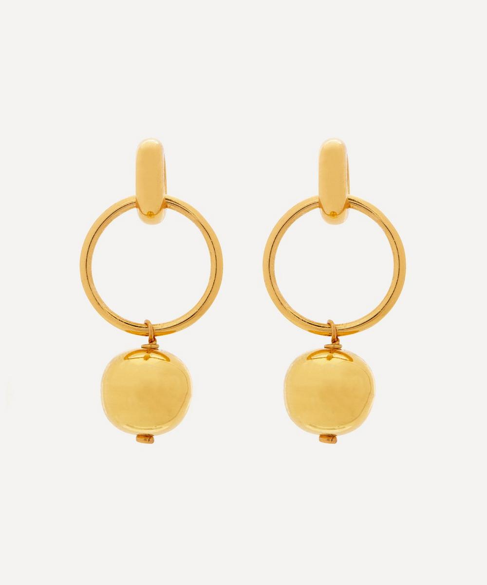 Shyla - Gold-Plated Layla Solid Ball Drop Earrings