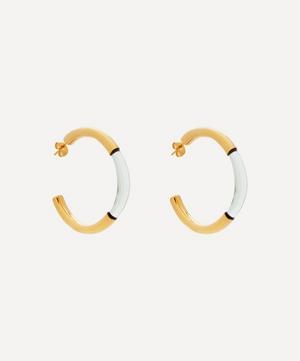 Gold-Plated Chunky Glass Hoop Earrings