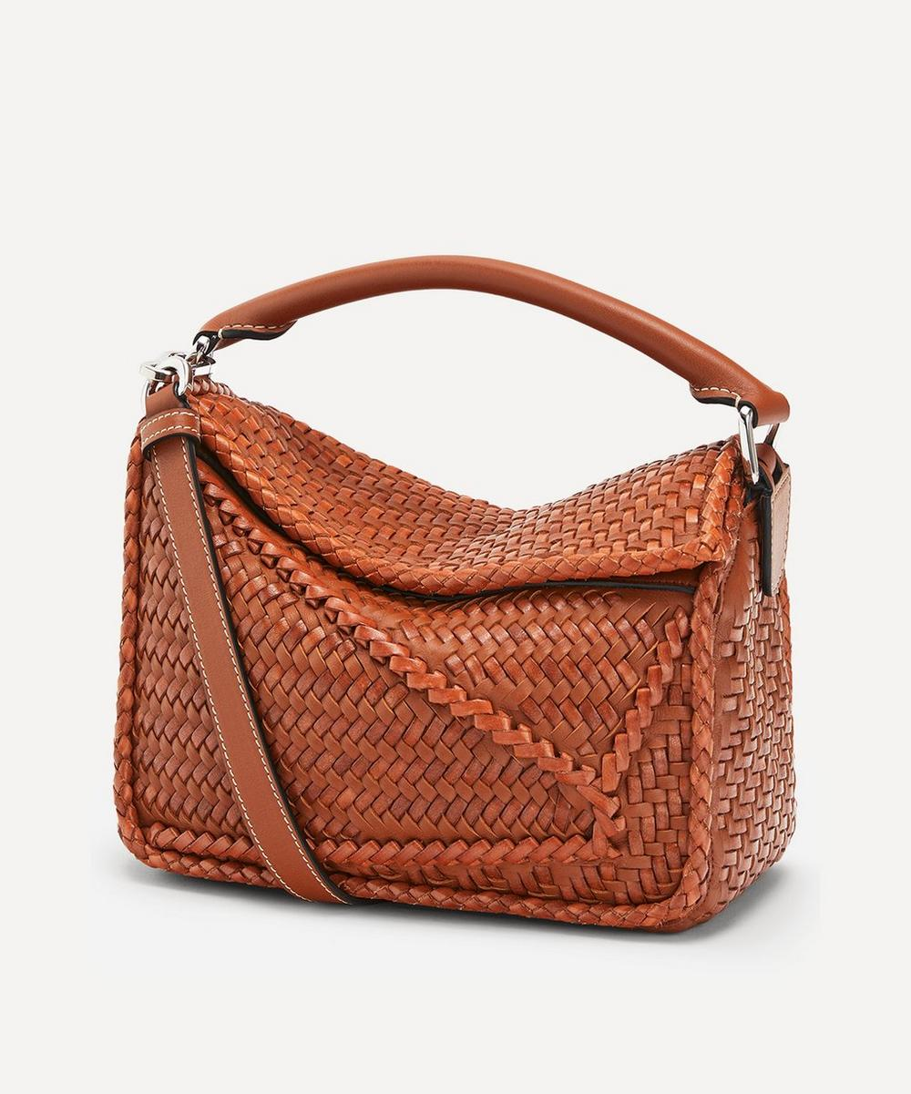 Loewe - Small Puzzle Woven Leather Shoulder Bag
