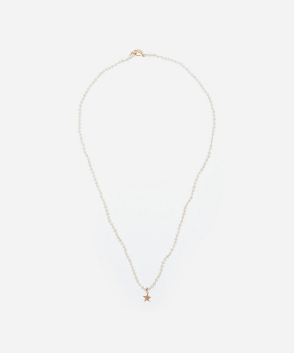Andrea Fohrman - Star Pearl Beaded Pendant Necklace