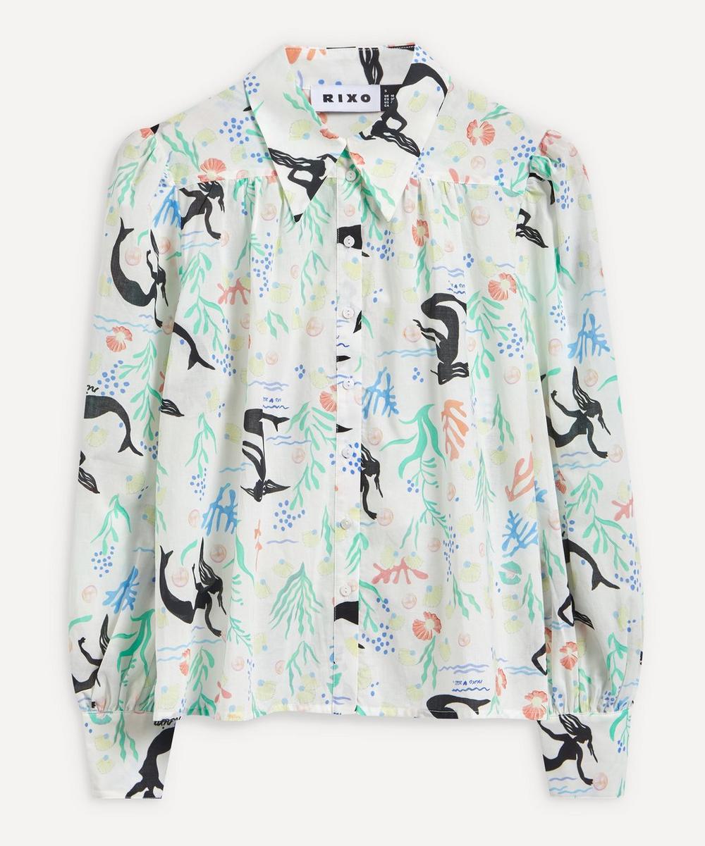 RIXO - Blake Sea Life Boxy Shirt