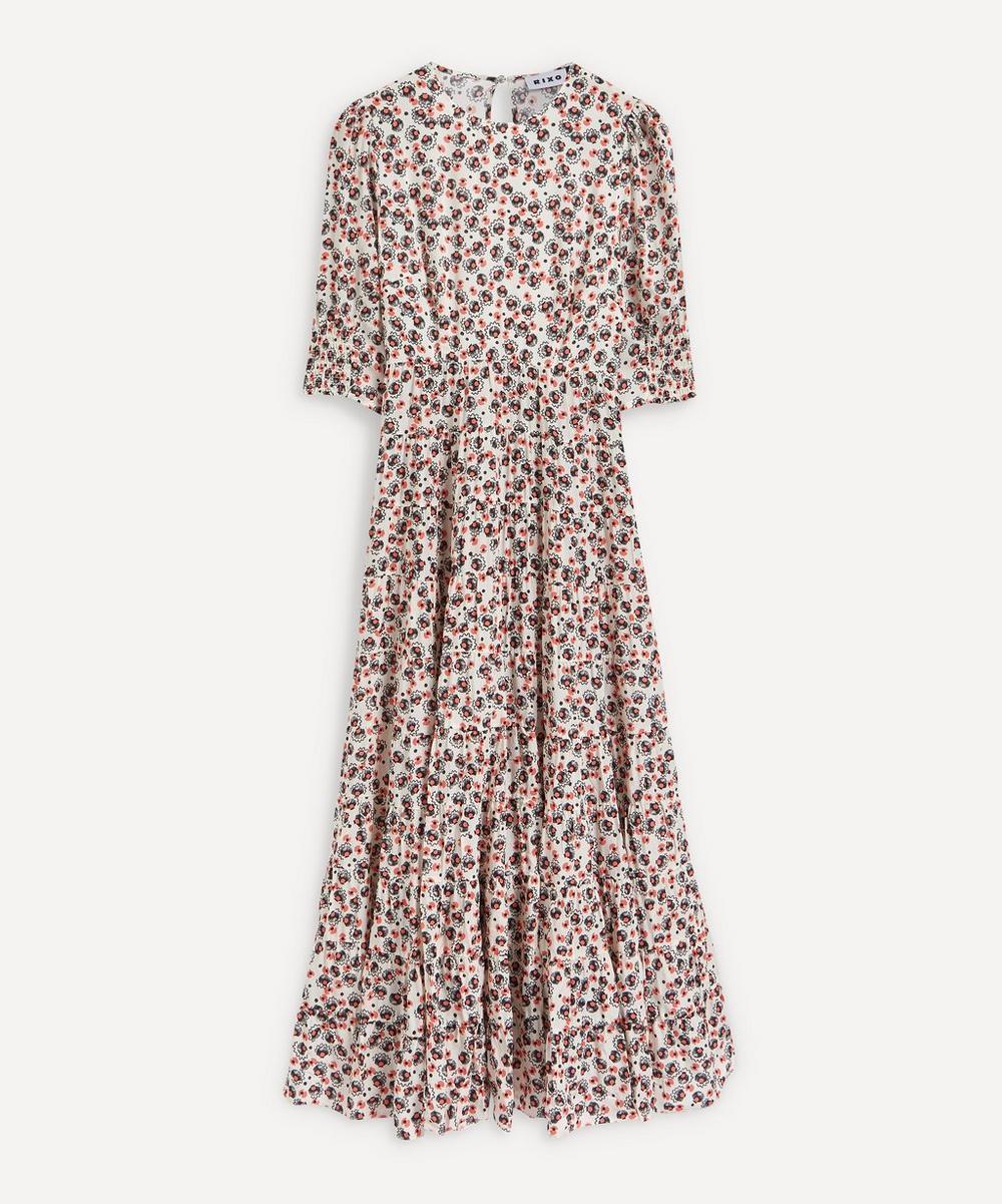 RIXO - Kristen Mid-Sleeve Midi-Dress