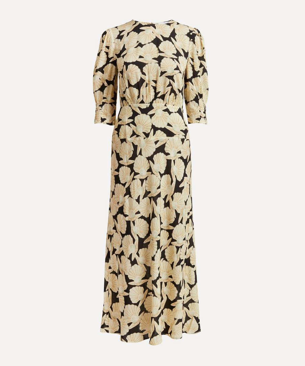 RIXO - Lucile Pearl Ruffle-Front Dress