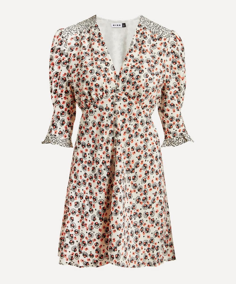 RIXO - Juni Puff-Sleeve Mini-Dress