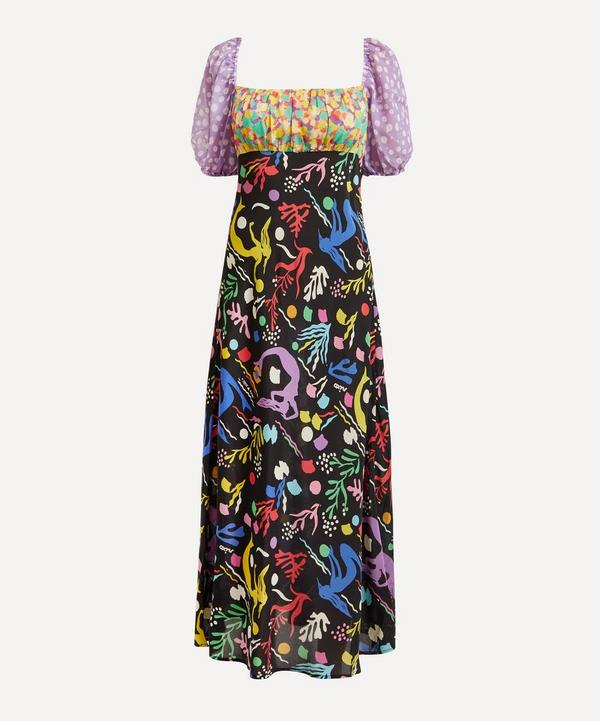 RIXO - Anastasia Sea Life Midi-Dress