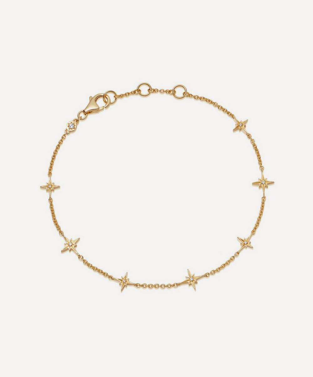 Astley Clarke - Gold Plated Vermeil Silver Celestial White Sapphire Station Bracelet