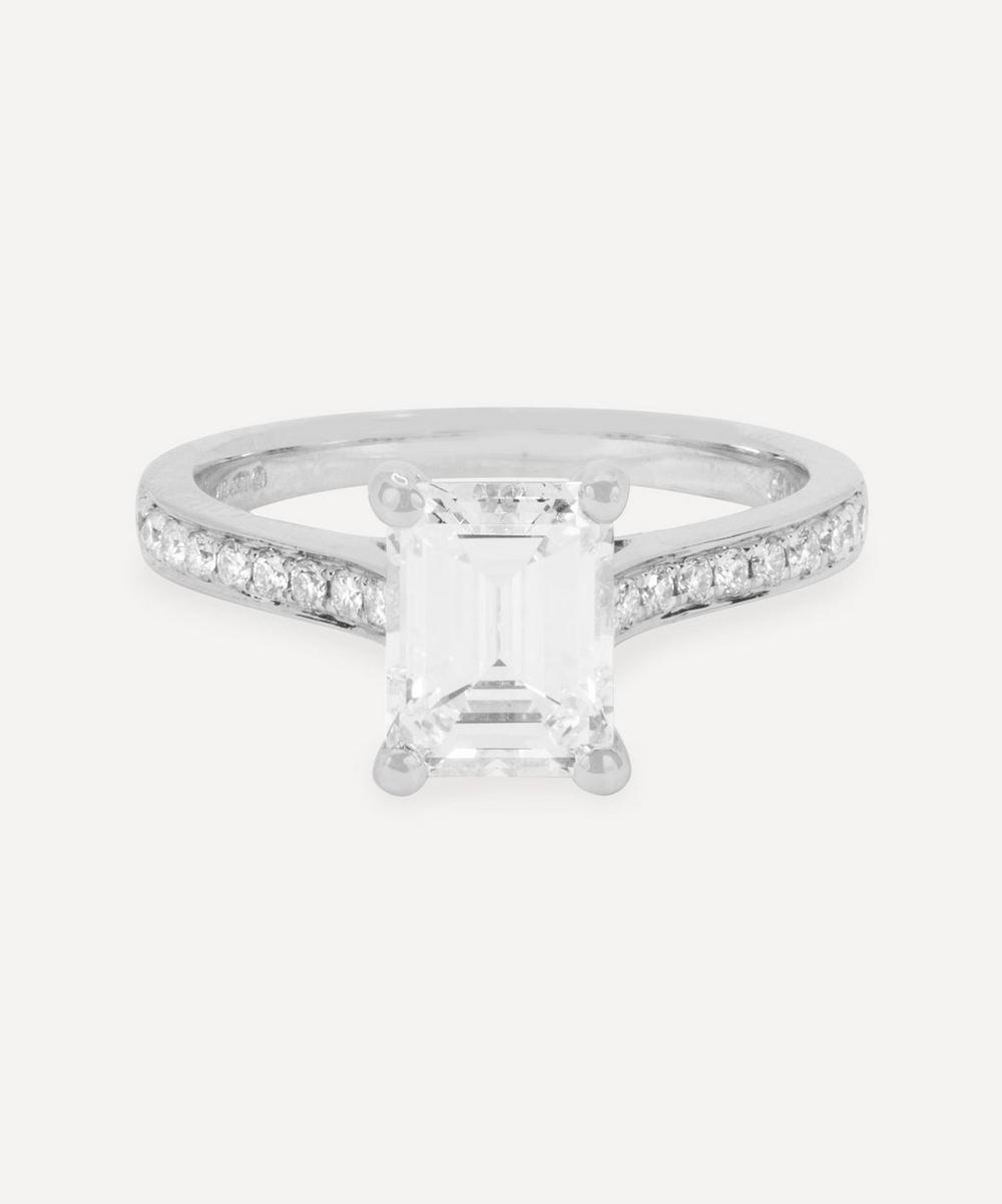 Kojis - Platinum 1.58ct Emerald Cut Diamond Ring