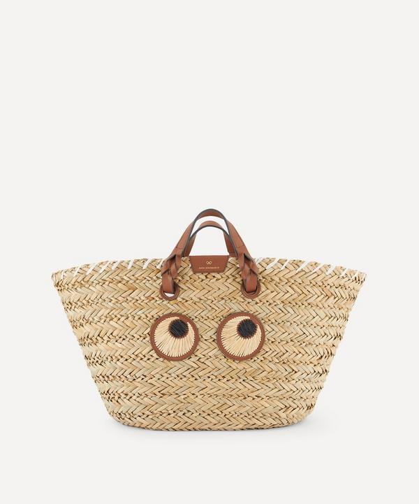 Anya Hindmarch - Large Paper Eyes Woven Seagrass Basket Bag