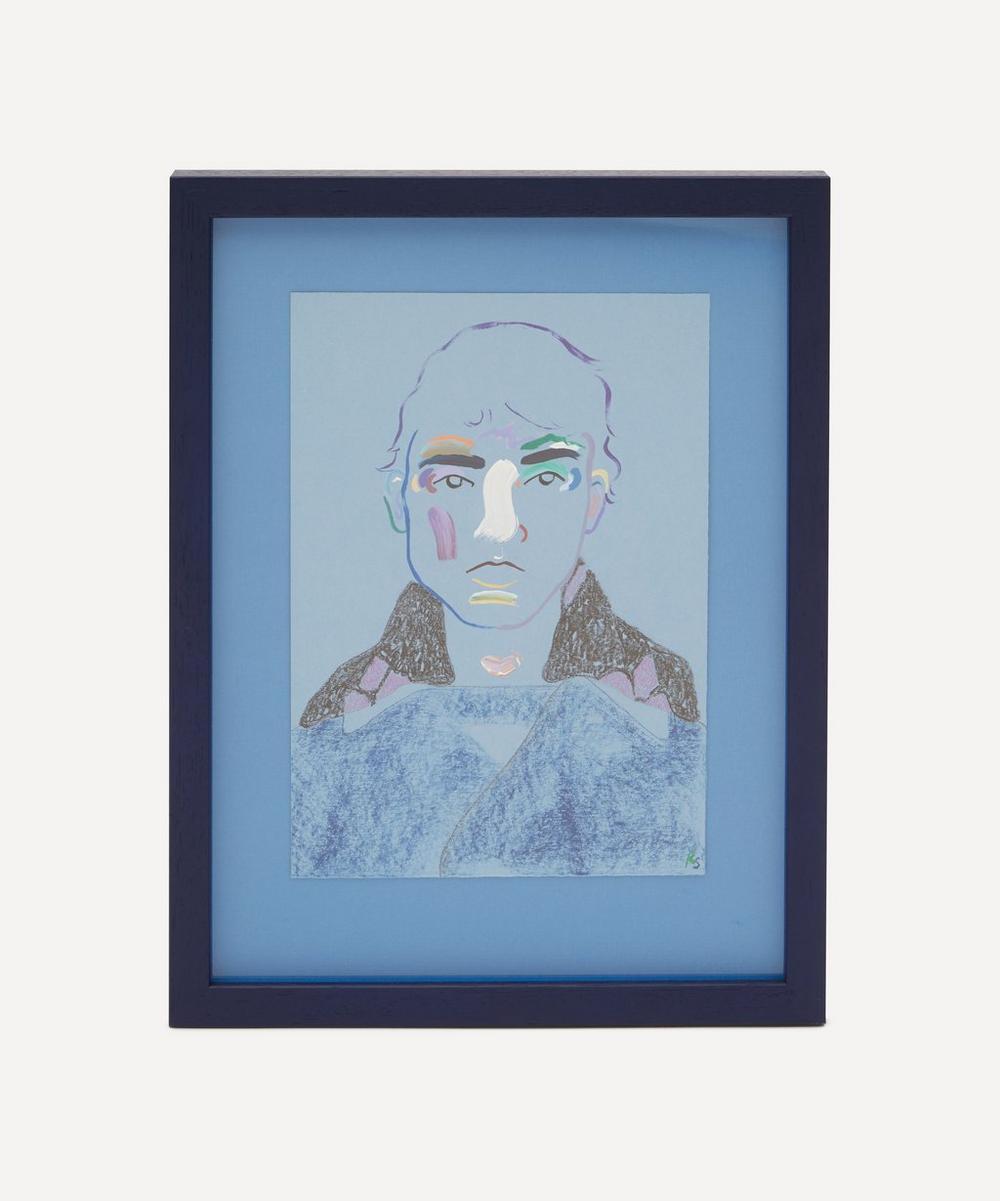 Robson Stannard - Blue Boy in Prada Original Framed Painting