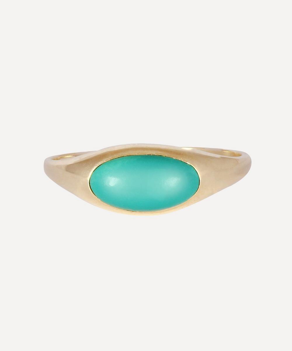 Kojis - Gold Turquoise Ring
