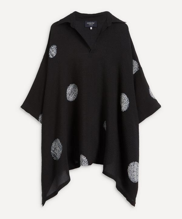 Eskandar - Open Collar Dot Pattern Shirt