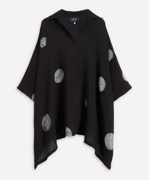 Open Collar Dot Pattern Shirt