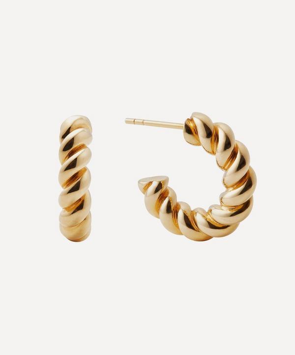 Otiumberg - Gold Plated Vermeil Silver Mini Chunky Twist Hoop Earrings