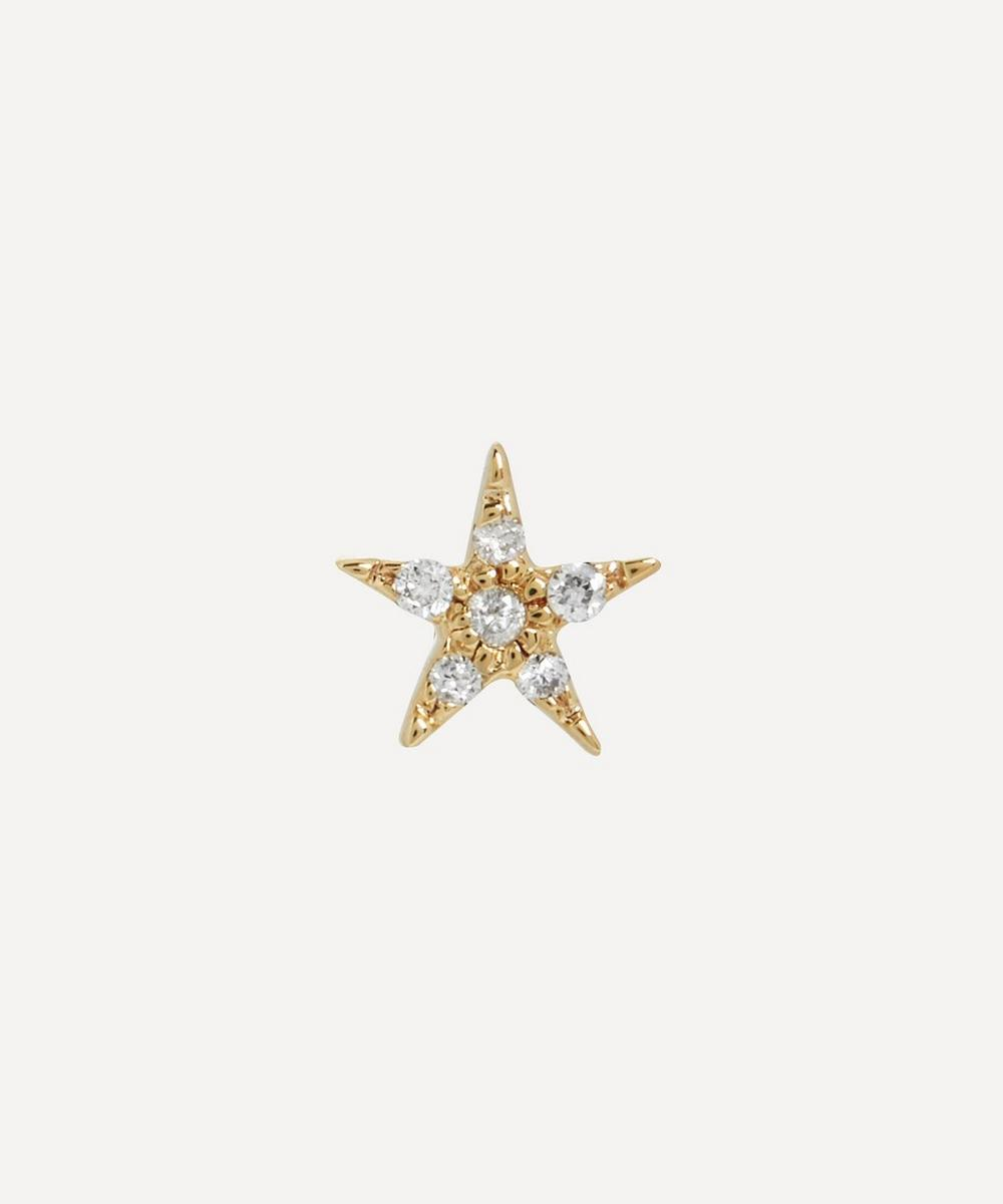 Otiumberg - Gold Diamond Star Single Stud Earring