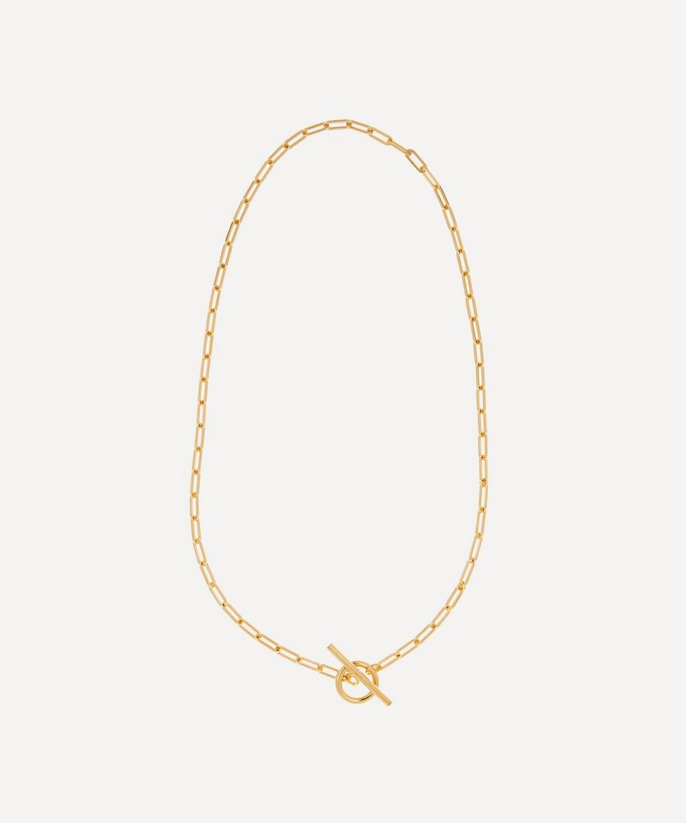 Otiumberg - Gold Plated Vermeil Silver Love Link Chain Necklace