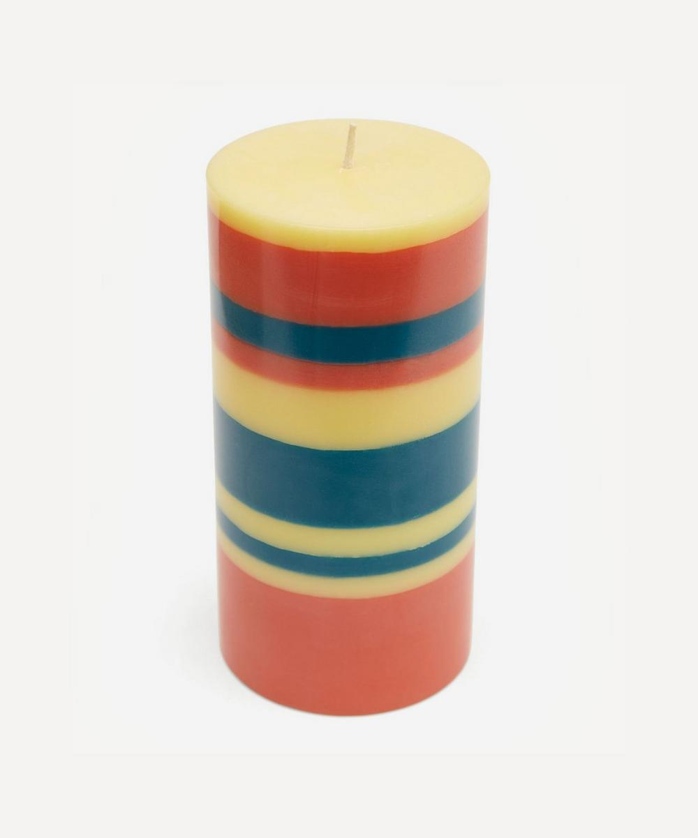 British Colour Standard - Striped Pillar Candle