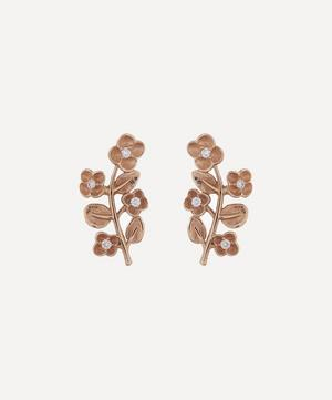 9ct Gold Blossom Diamond Stud Earrings