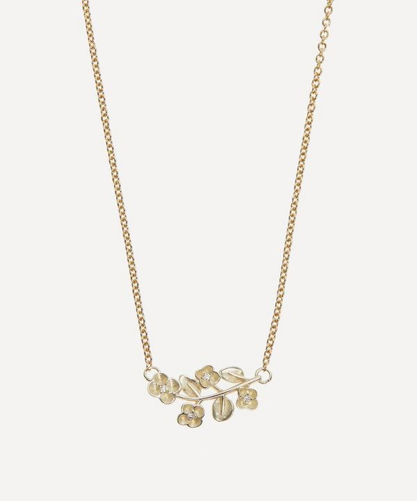 Liberty - 9ct White Gold Blossom Diamond Pendant Necklace