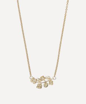 9ct White Gold Blossom Diamond Pendant Necklace