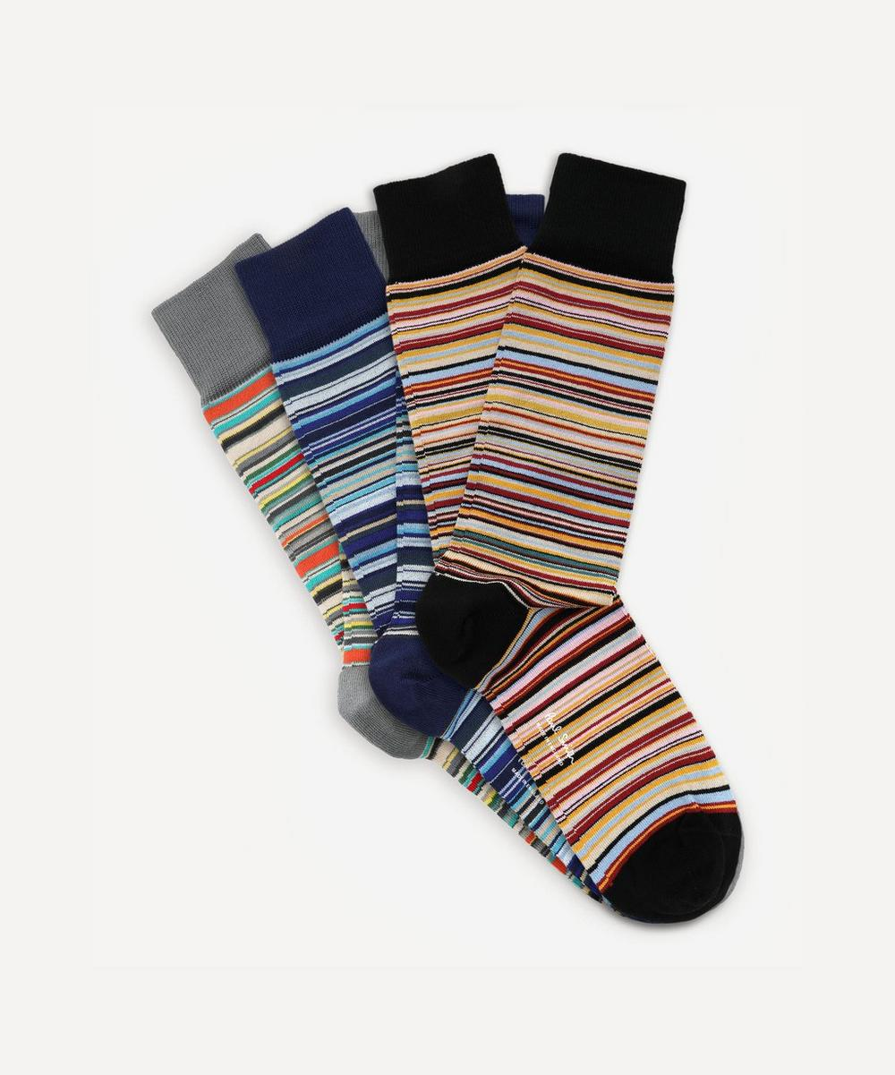 Paul Smith - Multi-Stripe Socks Three Pack