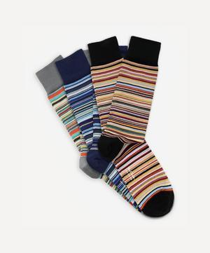 Multi-Stripe Socks Three Pack