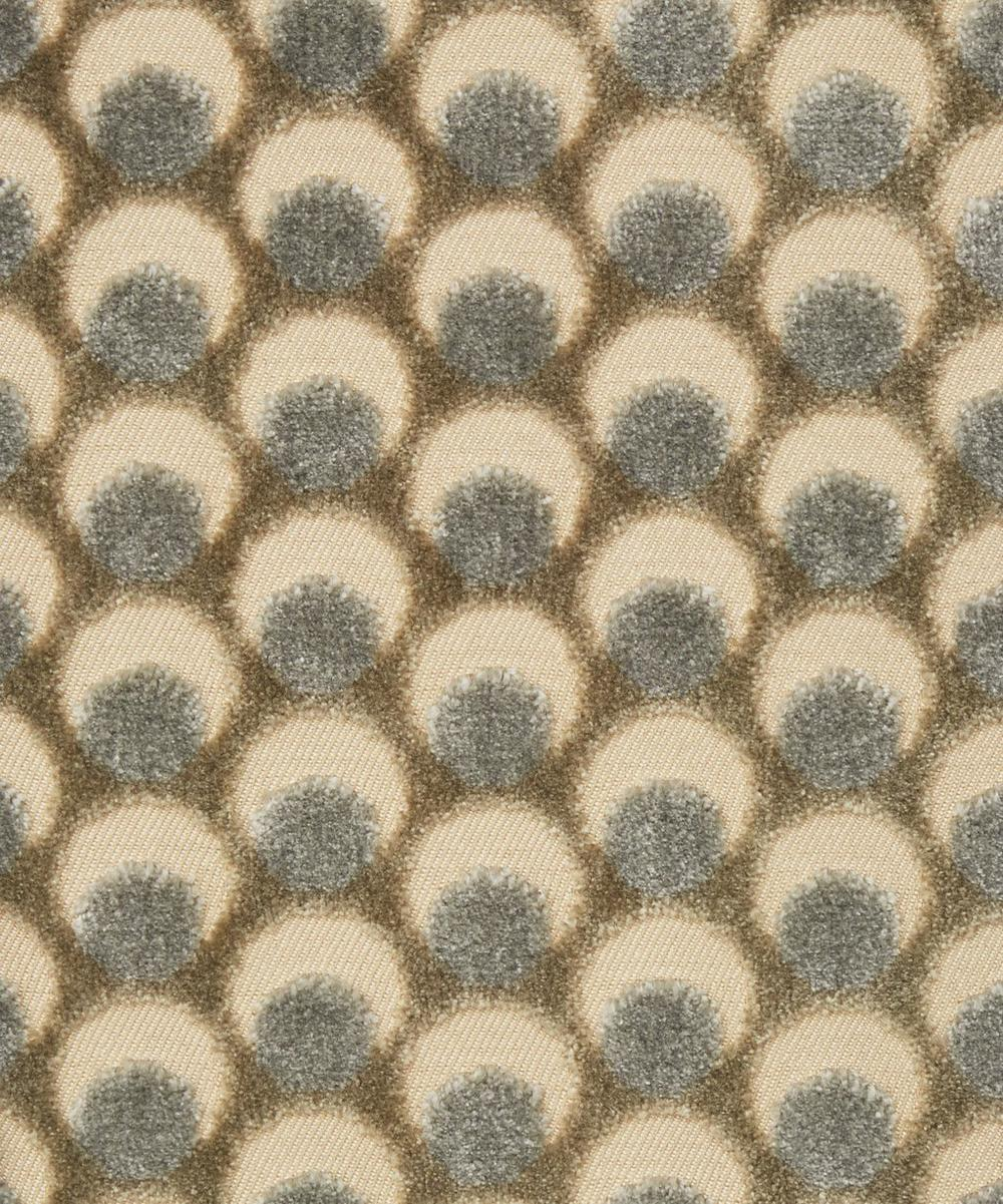 Liberty Interiors - Ottoman Spot Cut Velvet in Pewter