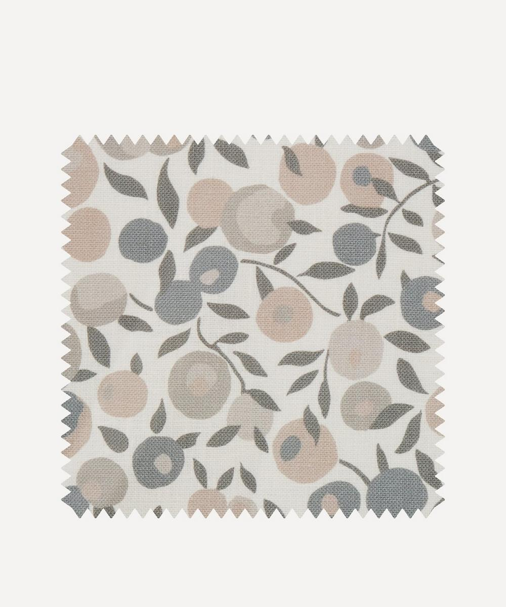 Liberty Interiors - Fabric Swatch - Wiltshire Blossom Landsdowne Linen in Pewter