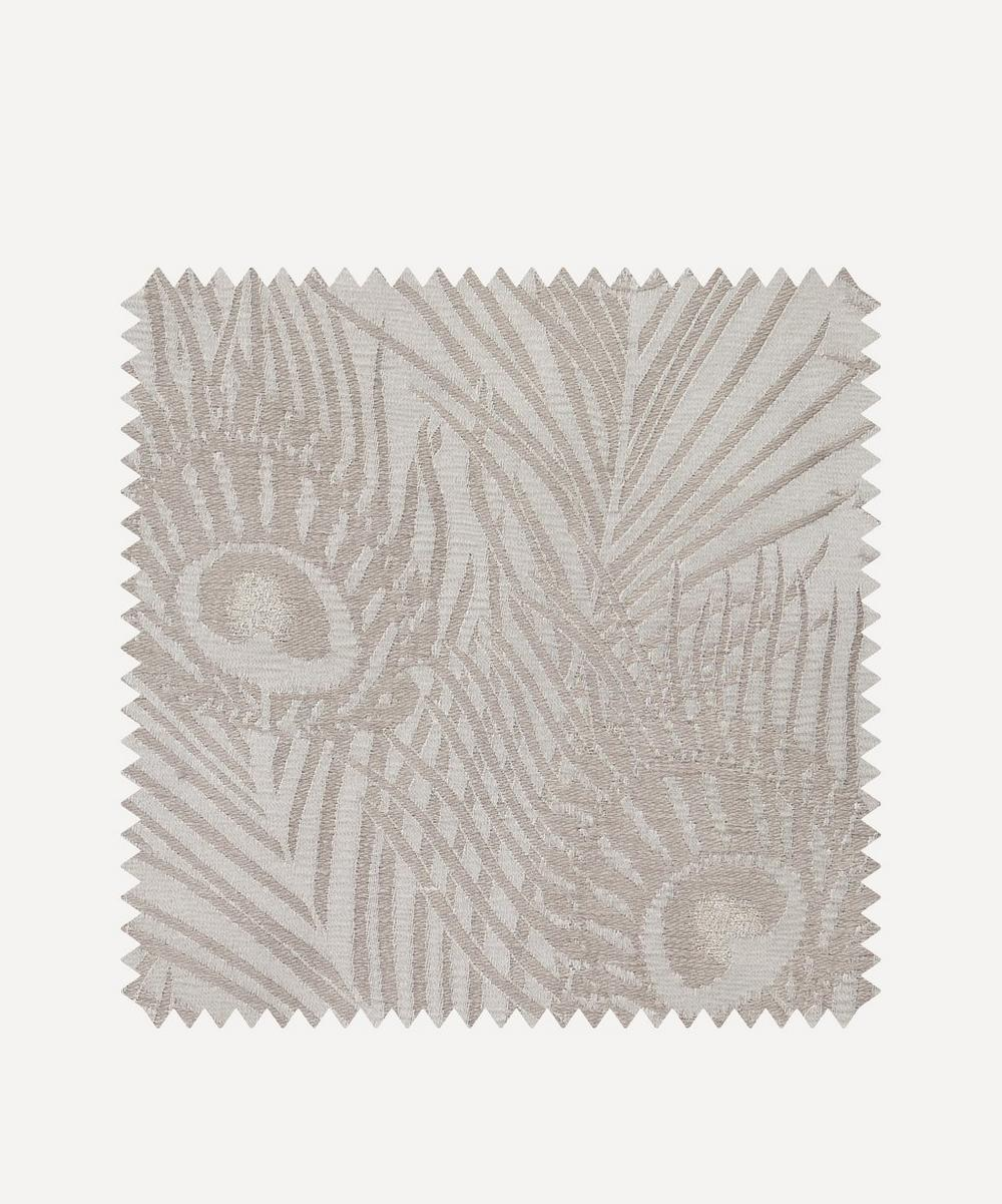 Liberty Interiors - Fabric Swatch - Hera Plume Dyed Jacquard in Pewter