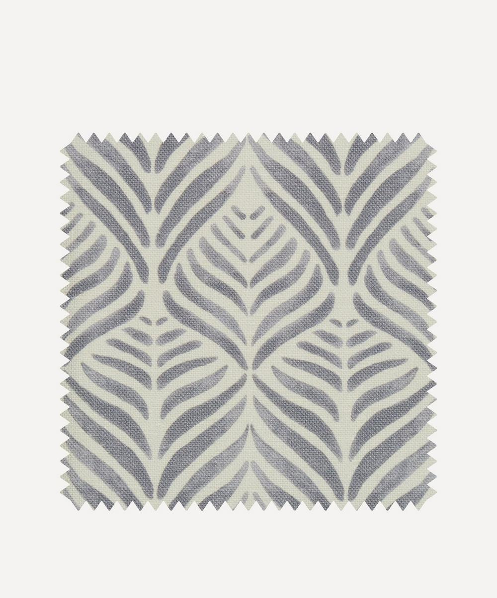 Liberty Interiors - Fabric Swatch - Quill Landsdowne Linen in Pewter