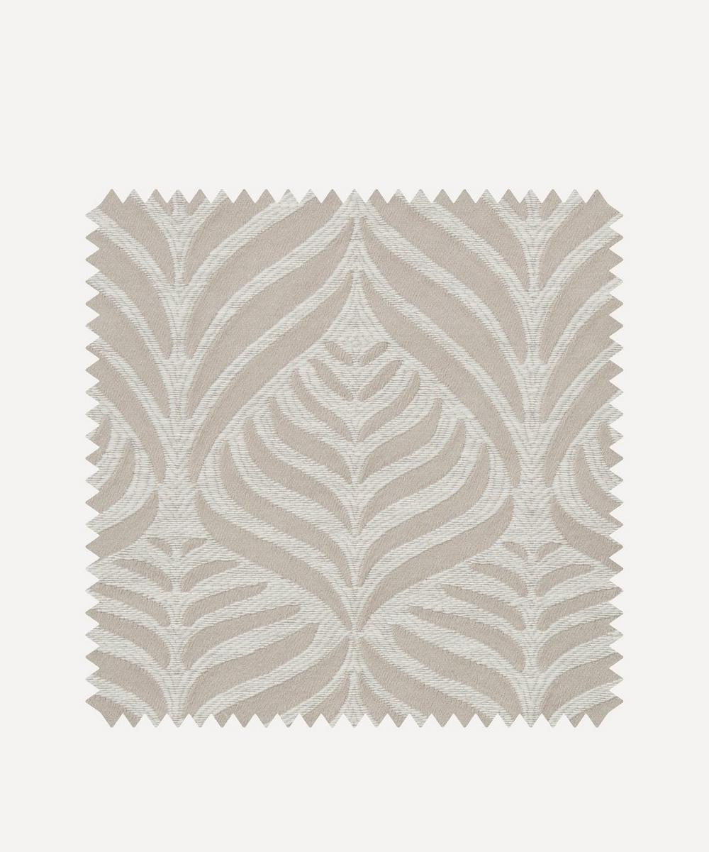 Liberty Interiors - Fabric Swatch - Quill Weave Yarn Jacquard in Pewter
