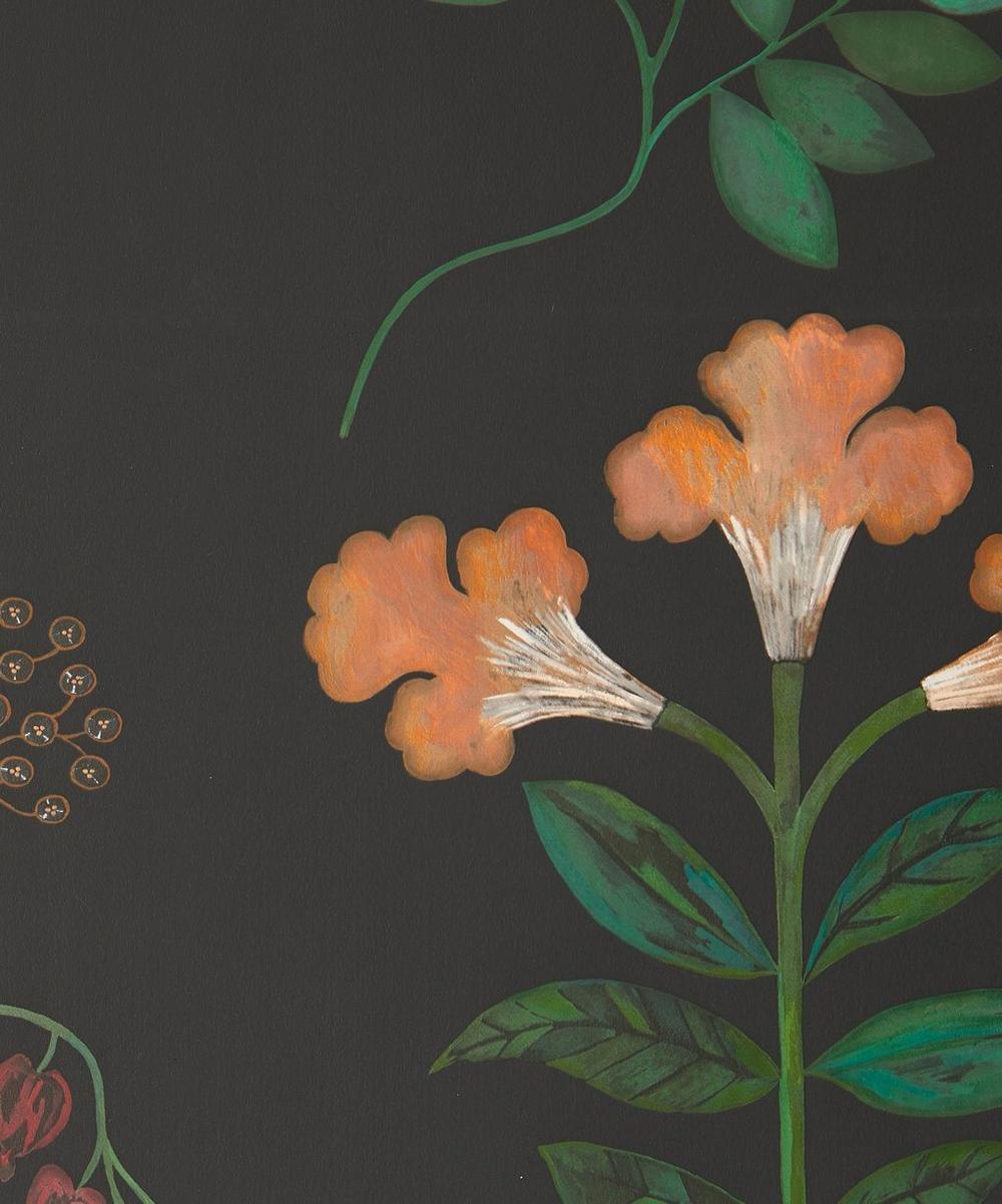 Liberty Interiors - Botanical Stripe Wallpaper in Jade