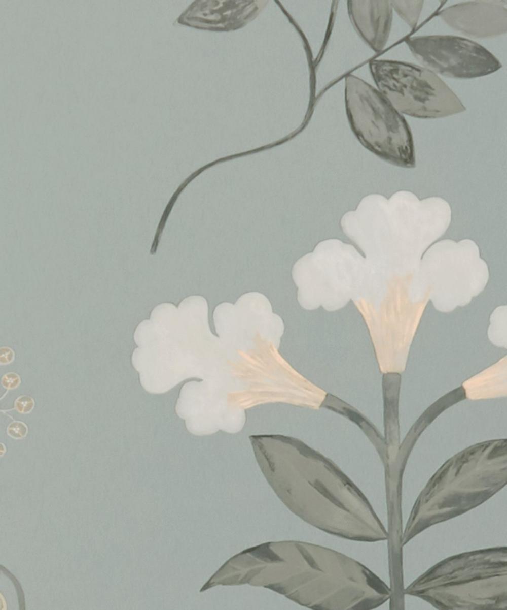 Liberty Interiors - Botanical Stripe Wallpaper in Pewter